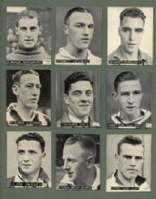 TRADE cards English Footballers 1938 Hotspur Manchester U Liverp
